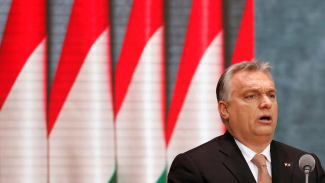 FILE PHOTO: Hungarian Prime Minister Viktor Orban delivers a speech during the celebrations of the anniversary of the Hungarian Uprising of 1956, in Budapest
