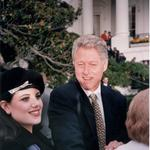 US President Bill Clinton and White House intern Monica Lewinsky