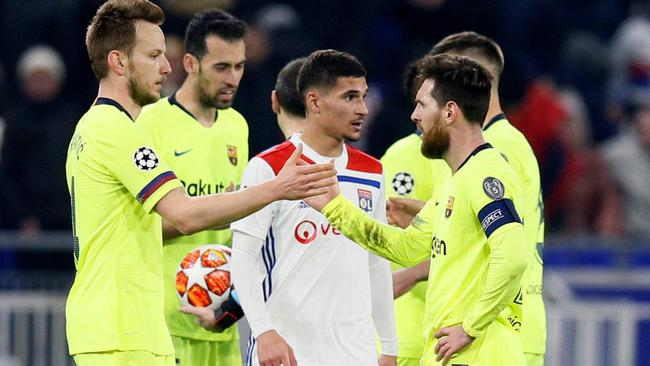Champions League - Round of 16 First Leg - Olympique Lyonnais v FC Barcelona