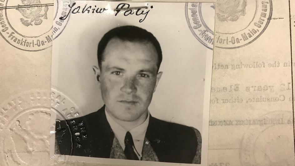 Jakiw Palij, a 95-year old New York City man believed to be a former guard at a labor camp in Nazi-occupied Poland, is pictured in a 1949 visa photo in this handout image
