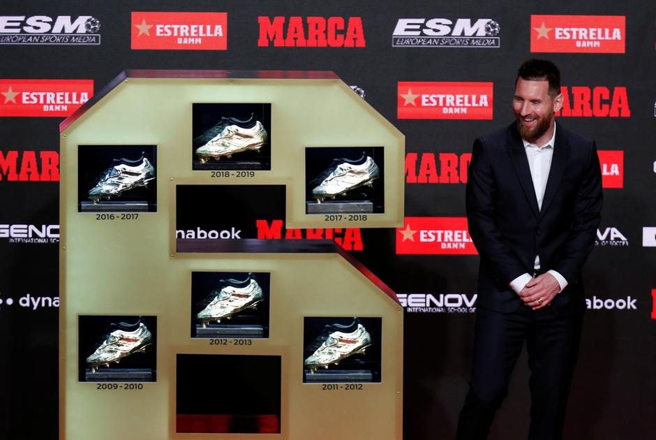 FC Barcelona's Lionel Messi receives his sixth Golden Shoe | Autor: ALBERT GEA/REUTERS/PIXSELL/REUTERS/PIXSELL