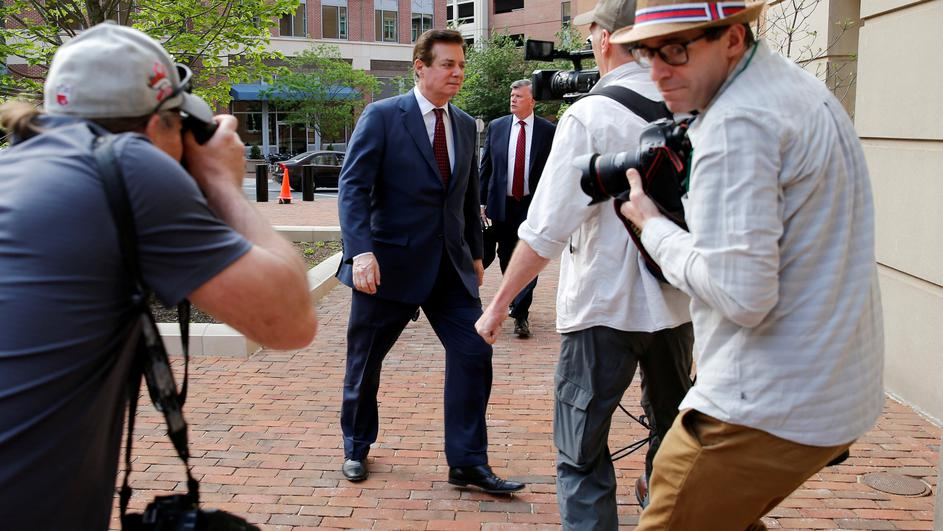 FILE PHOTO: Manafort arrives at U.S. District Court for a motions hearing in Alexandria, Virginia
