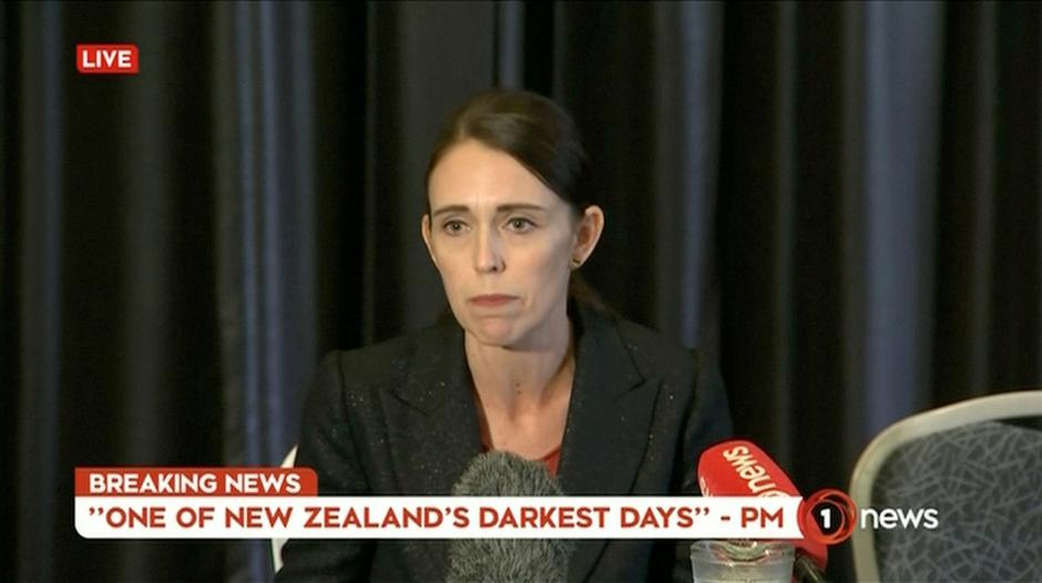 Video grab of New Zealand's Prime Minister Jacinda Ardern speaking on live television following fatal shootings at two mosques in central Christchurch | Autor: REUTERS TV/REUTERS/PIXSELL/REUTERS/PIXSELL