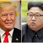 FILE PHOTOS: A combination photo shows Trump in New York and North Korean leader Jong Un in Pyongyang,