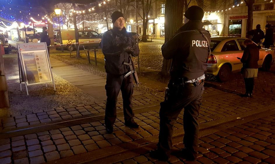police evacuated a christmas market and the surrounding area in the german city of potsdam near berlin germany december 1 2017 to investigate a