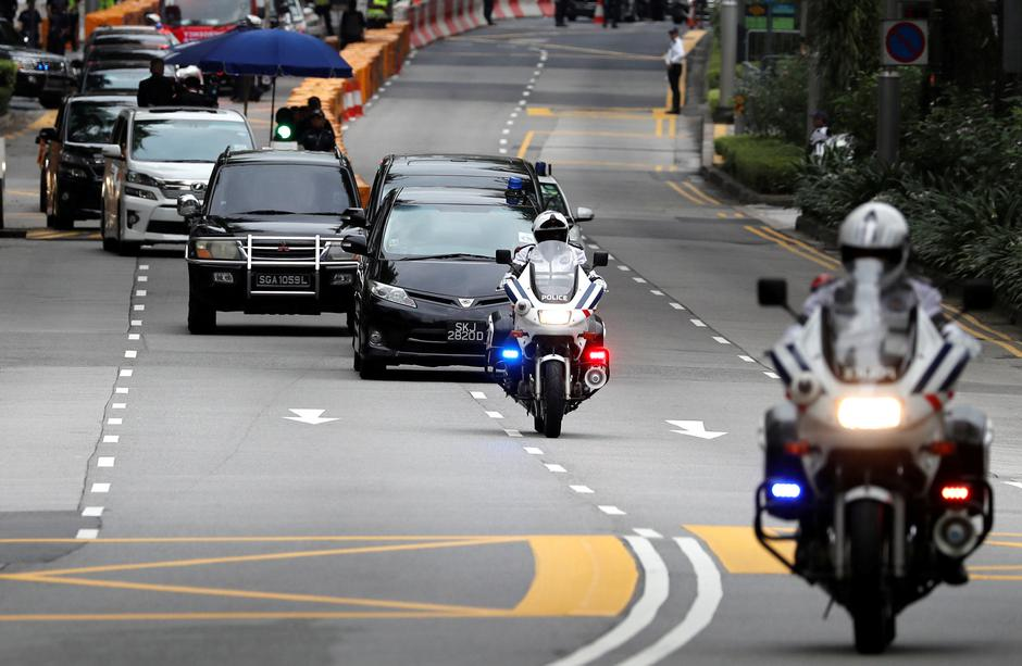 The motorcade of North Korean leader Kim Jong Un travels towards Sentosa for his meeting with U.S. President Donald Trump, in Singapore | Autor: TYRONE SIU