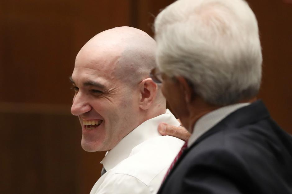 Michael Gargiulo sits in court with his lawyer, Daniel Nardoni, during his murder trial in Los Angeles | Autor: LUCY NICHOLSON/REUTERS/PIXSELL/REUTERS/PIXSELL