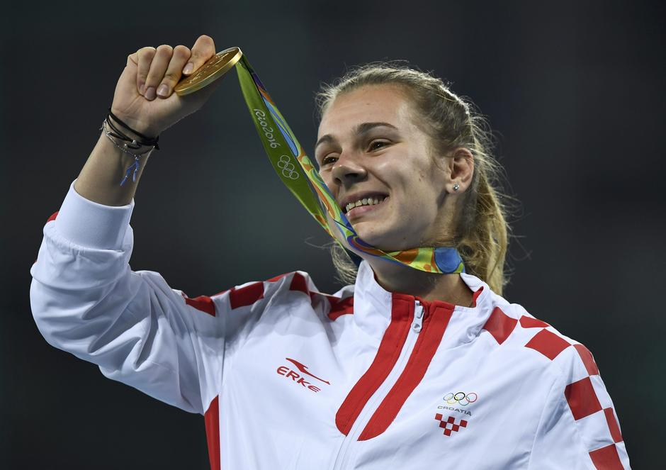 Athletics - Women's Javelin Throw Victory Ceremony | Autor: DYLAN MARTINEZ