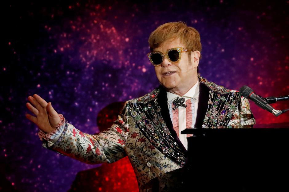 "FILE PHOTO: Singer Elton John performs before announcing his final ""Farewell Yellow Brick Road"" tour in Manhattan 