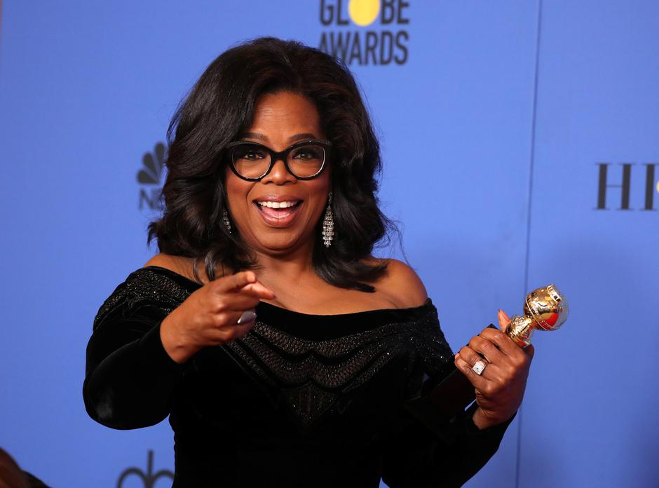 FILE PHOTO: Oprah Winfrey with her Cecil B. DeMille Award at the 75th Golden Globe Awards in Beverly Hills | Autor: LUCY NICHOLSON/REUTERS/PIXSELL/REUTERS/PIXSELL