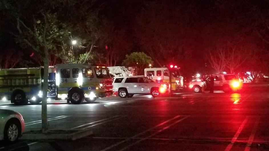 First responders are seen outside Borderline Bar and Grill in Thousand Oaks, California