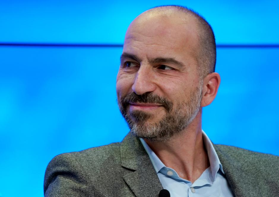 Dara Khosrowshahi, Chief Executive Officer of Uber Technologies, attends the World Economic Forum (WEF) annual meeting in Davos | Autor: DENIS BALIBOUSE