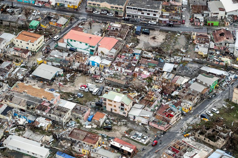 View of the aftermath of Hurricane Irma on Sint Maarten Dutch part of Saint Martin island in the Carribean | Autor: HANDOUT
