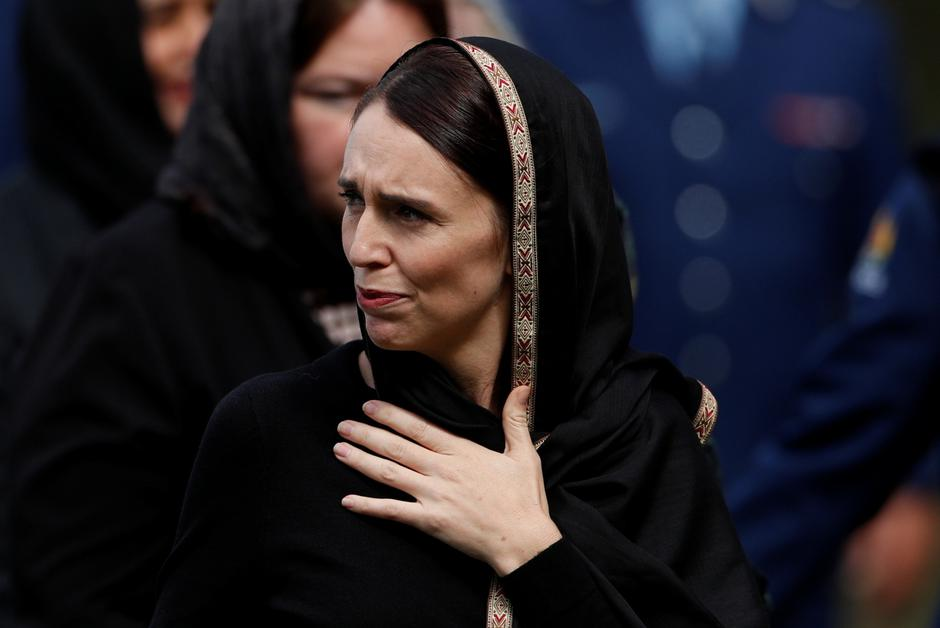 New Zealand's Prime Minister Jacinda Ardern leaves after the Friday prayers at Hagley Park outside Al-Noor mosque in Christchurch | Autor: JORGE SILVA/REUTERS/PIXSELL/REUTERS/PIXSELL