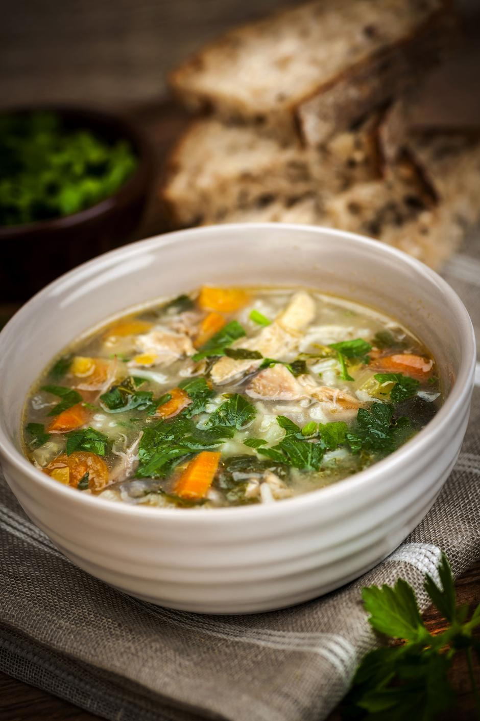 Chicken soup with rice and vegetables | Autor: Elena Elisseeva