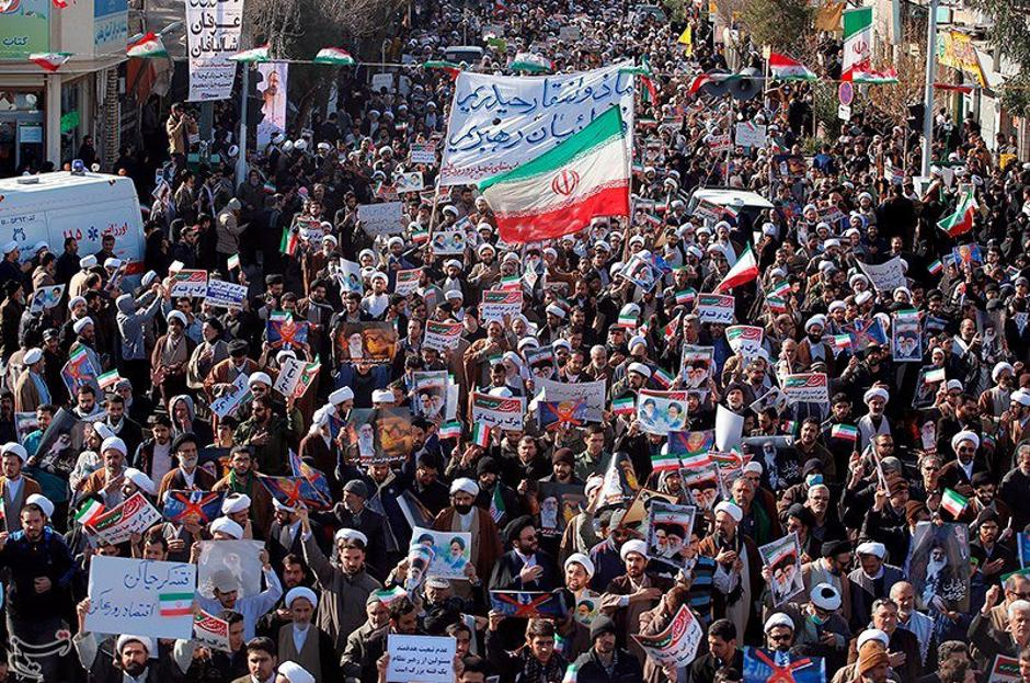People take part in pro-government rallies, Iran | Autor: HANDOUT