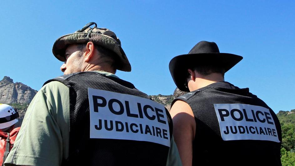 FILE PHOTO: French policemen take part to a research patrol in Roquebrune-sur-Argens