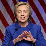 Hillary Clinton speaks to the Children's Defense Fund in Washington