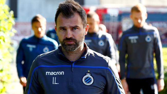 FILE PHOTO: Club Brugge coach Ivan Leko during training