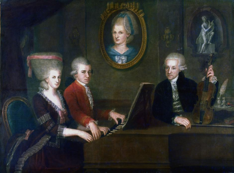 Portrait of family of Mozart | Autor: Photos.com