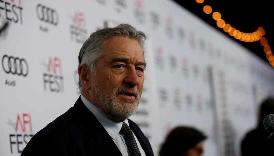 "Cast member Robert De Niro is interviewed at the premiere of ""The Comedian"" during AFI Fest at the Egyptian Theatre in Los Angeles 