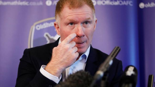 Oldham Athletic - Paul Scholes Press Conference