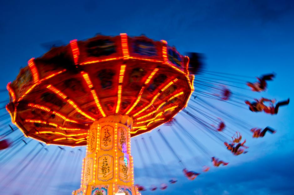 chairoplane at blue hour/sunset | Autor: dwphotos