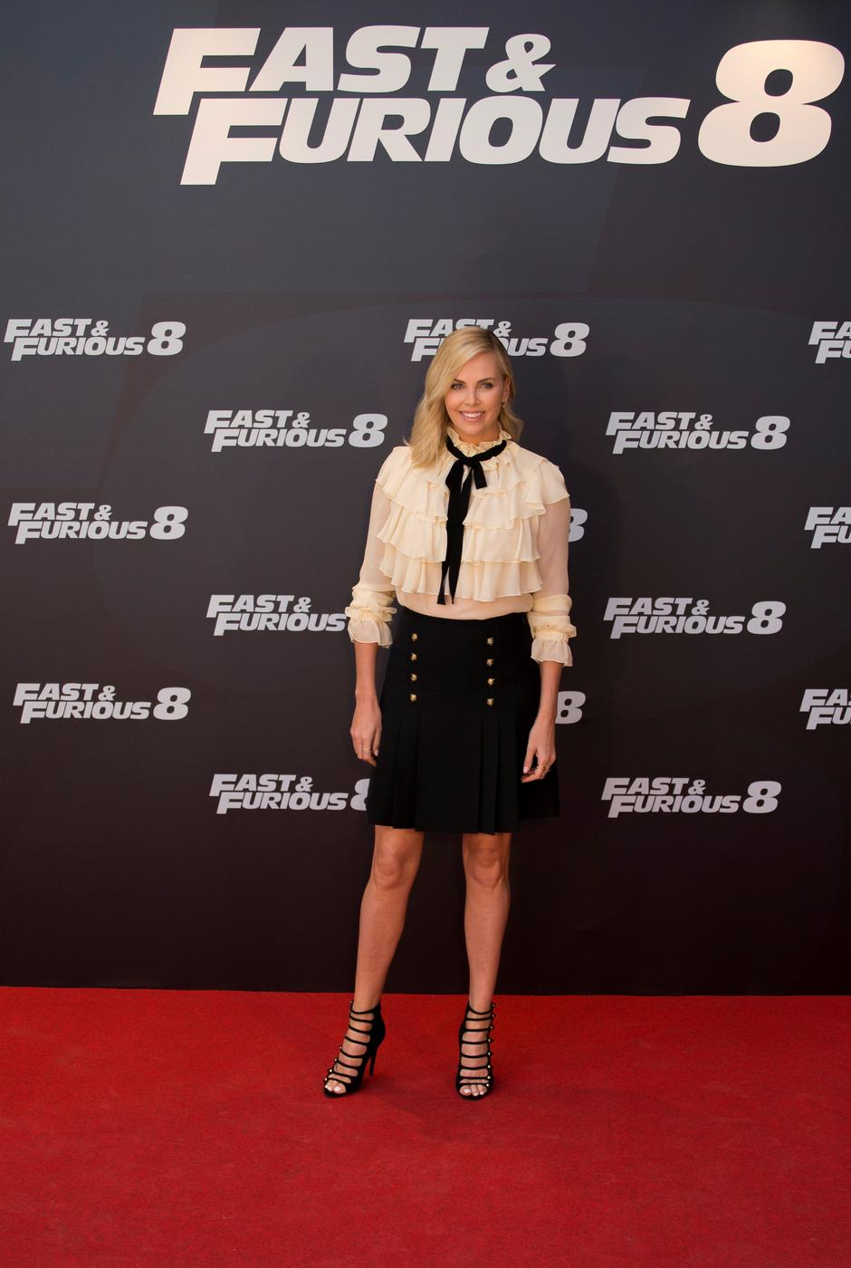 "Actress Theron poses during a photocall to promote her film ""Fast & Furious 8"" in Madrid 