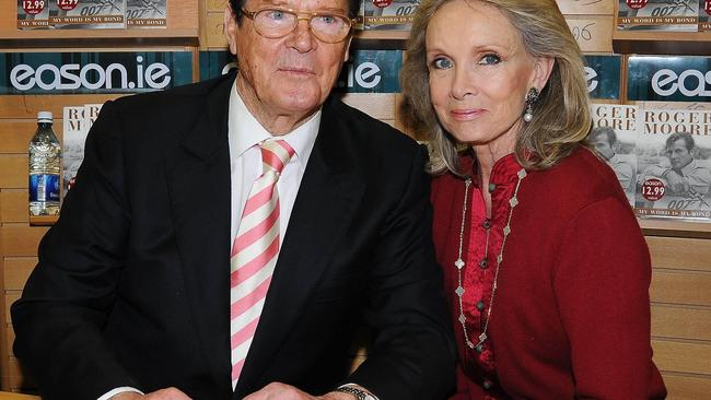 Roger Moore 007 & Wife Kiki weekend in Dublin, Ireland
