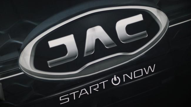 A JAC Motors logo is pictured in Mexico City