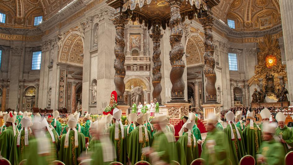 October 28, 2018 : Mass at the conclusion of the XV General Assembly of the Synod of Bishops in St. Peter's Basilica in the Vatican.