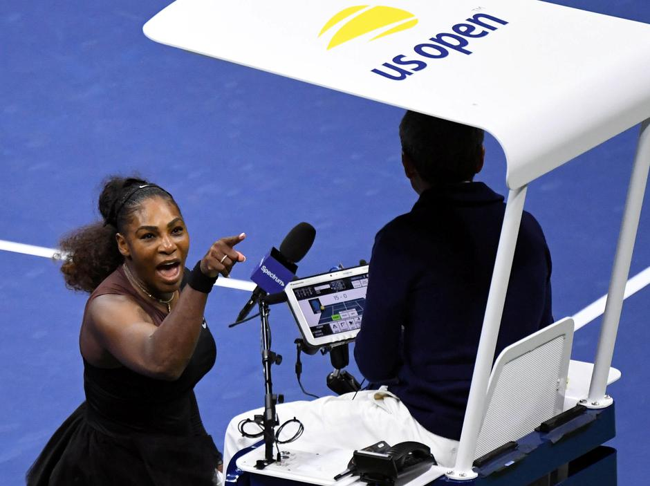FILE PHOTO: Serena Williams of the United States yells at chair umpire Carlos Ramos on day thirteen of the 2018 U.S. Open tennis tournament in New York | Autor: USA Today Sports/REUTERS/PIXSELL/REUTERS/PIXSELL
