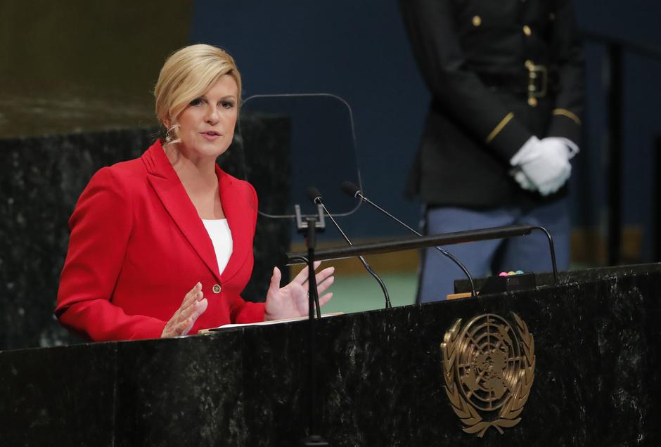 Croatia's President Kolinda Grabar-Kitarovic addresses the United Nations General Assembly in New York | Autor: CAITLIN OCHS/REUTERS/PIXSELL/REUTERS/PIXSELL