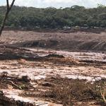 General view of the aftermath from a failed tailings dam in Brumadinho, Minas Gerais