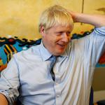 Britain's PM Johnson visits the Royal Cornwall Hospital in Truro