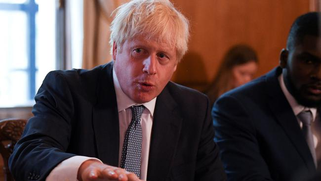 FILE PHOTO: Britain's Prime Minister Boris Johnson attends a roundtable on the criminal justice system at 10 Downing Street