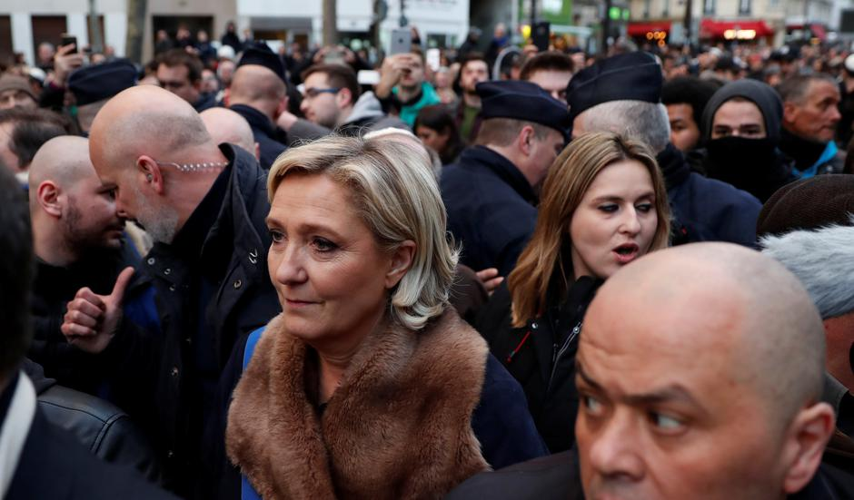 Marine Le Pen, leader of the French far-righ Front National (FN) party, attends a gathering, organised by the CRIF Jewish organisation, in memory of Mireille Knoll, in Paris | Autor: GONZALO FUENTES/REUTERS/PIXSELL/REUTERS/PIXSELL
