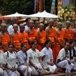 Members of the soccer team rescued from a cave attend a Buddhist ordination ceremony at a temple at Mae Sai