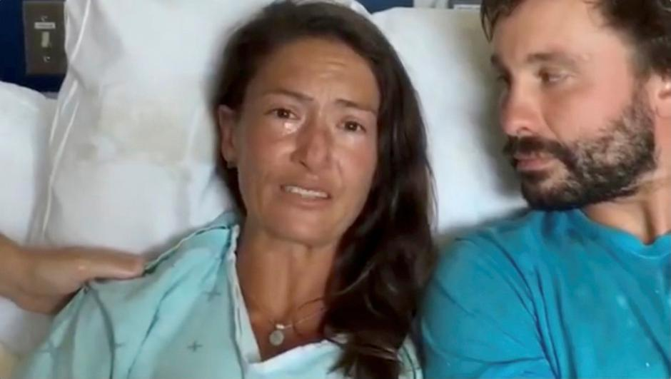 Still image from video of Amanda Eller, a yoga instructor who went missing for 17 days while hiking in Maui's Makawao Forest Reserve, speaking from her hospital bed at Maui Memorial Medical Center in Hawaii | Autor: SOCIAL MEDIA/REUTERS/PIXSELL/REUTERS/PIXSELL