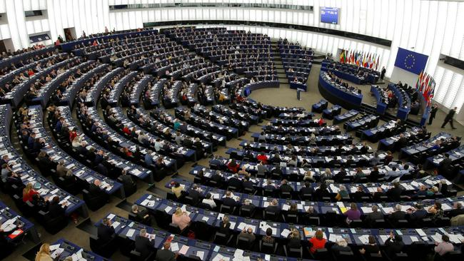 FILE PHOTO: Members of the European Parliament take part in a voting session in Strasbourg