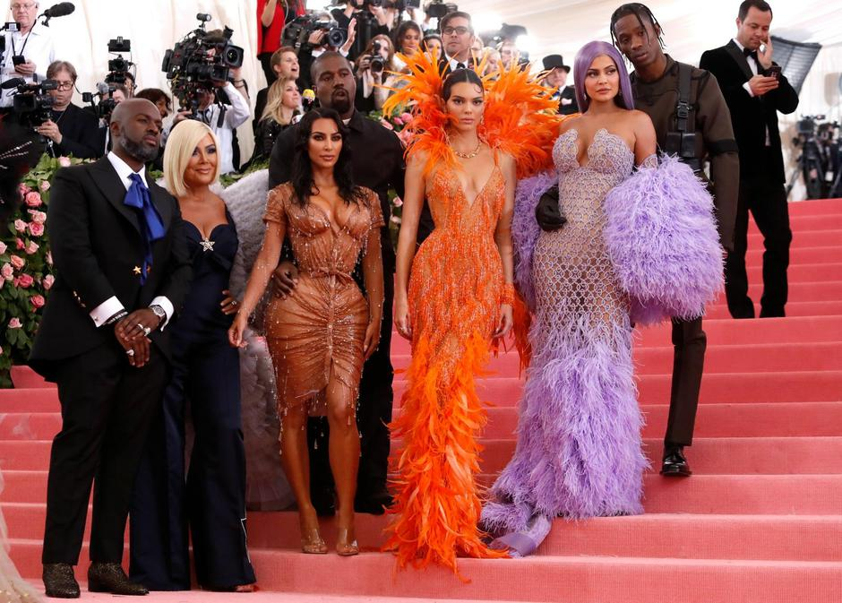 Metropolitan Museum of Art Costume Institute Gala - Met Gala - Camp: Notes on Fashion- Arrivals - New York City, U.S. – May 6, 2019 -Corey Gamble, Kris Jenner, Kanye West, Kim Kardashian, Kendall Jenner, Kylie Jenner and Travis Scott | Autor: Andrew Kelly/REUTERS/PIXSELL/REUTERS/PIXSELL