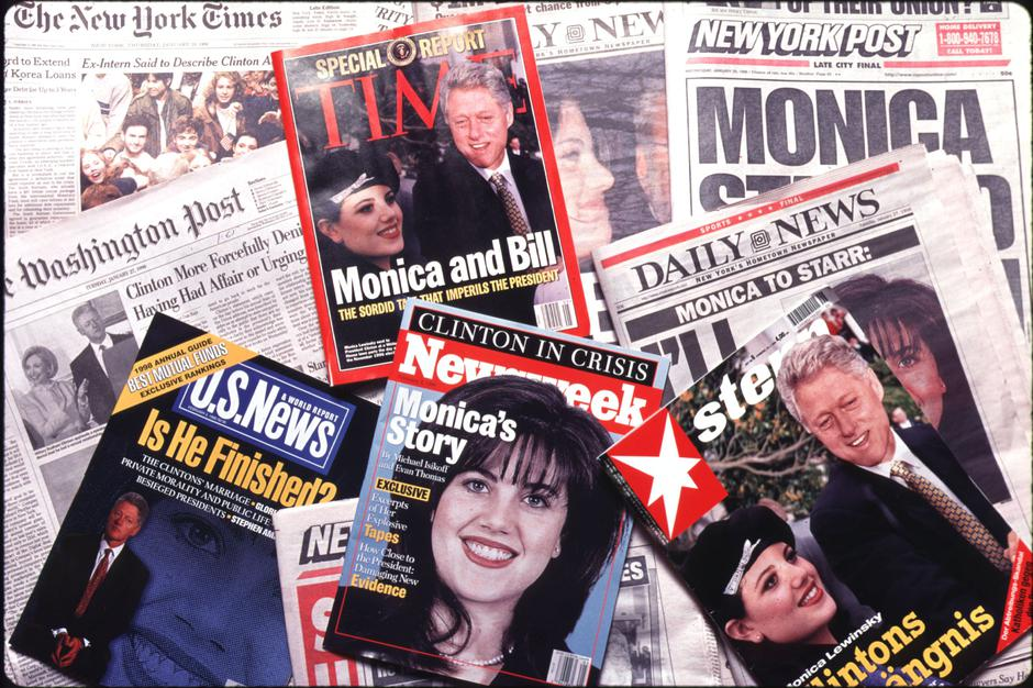 Monica Lewinsky scandal front page and cover news | Autor: Profimedia