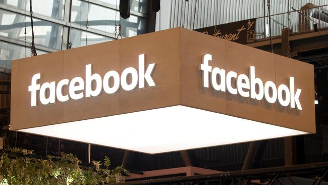 FILE PHOTO: The logo of Facebook is pictured during the Viva Tech start-up and technology summit in Paris