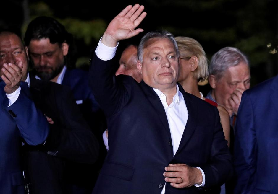 Hungarian Prime Minister Viktor Orban addresses supporters after the preliminary results of the European Parliament election in Budapest | Autor: BERNADETT SZABO/REUTERS/PIXSELL/REUTERS/PIXSELL