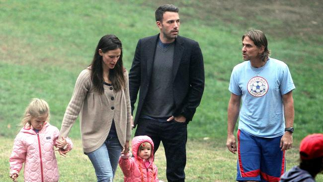 Jennifer Garner and Ben Affleck took there kids to a local park in Los Angeles, USA
