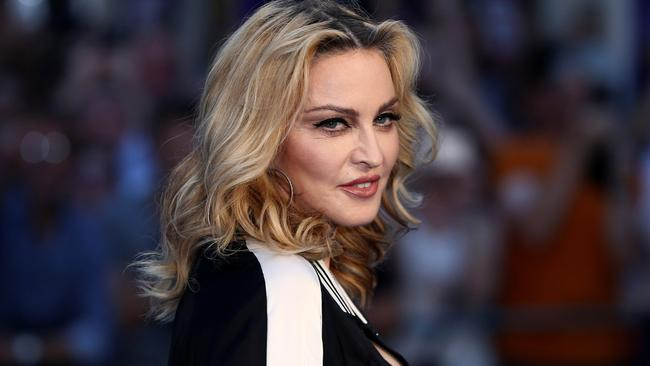 U.S. singer Madonna attends the world premiere of 'The Beatles: Eight Days a Week - The Touring Years' in London