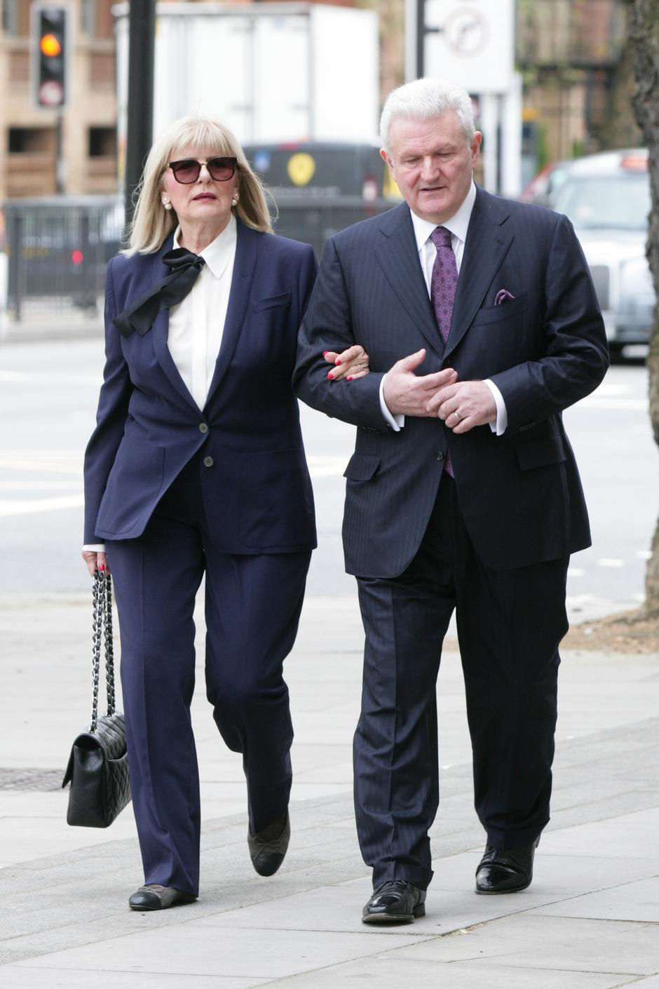 EXCLUSIVE Ivica Todoric and his wife Vesna Todoric are seen arriving at Westminster Magistrates Court in London today. A judge ruled today that the Agrokor founder is to be extradited back to Croatia. | Autor: Vantagenews.com/PIXSELL