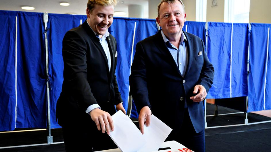 Danish PM Rasmussen votes in Copenhagen