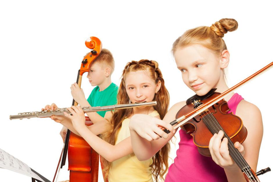Close-up view of kids playing musical instruments | Autor: Photographer:Sergey Novikov (SerrNovik)