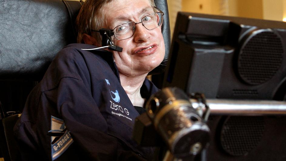 FILE  PHOTO: British physicist Stephen Hawking answers questions during an interview in Orlando